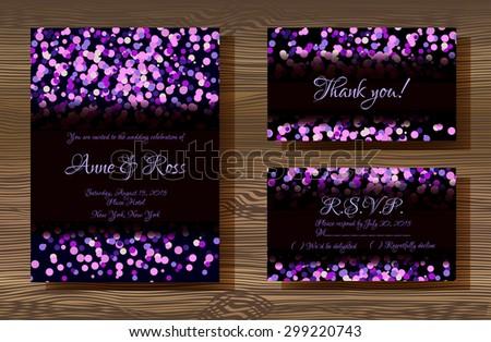 Thank you. Invitation card design template. Chevron black patter Stock photo © pashabo
