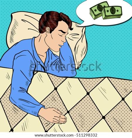 Stockfoto: Zakenman · slapen · bed · slaap · geld · manager