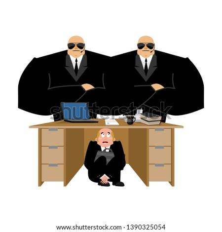 бизнесмен · страшно · таблице · кредитор · испуганный · бизнеса - Сток-фото © popaukropa