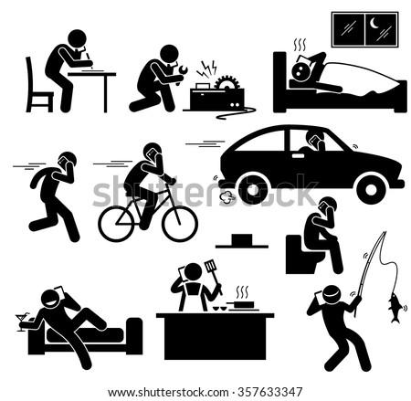 Woman using mobile phone while man repairing a car Stock photo © wavebreak_media