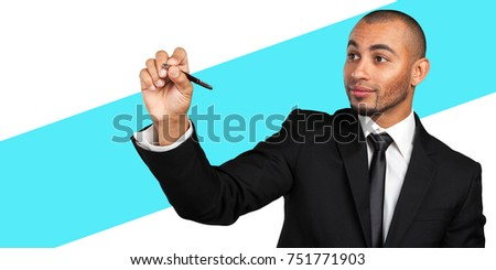 Férfi igazgató ír láthatatlan képernyő üzlet Stock fotó © wavebreak_media