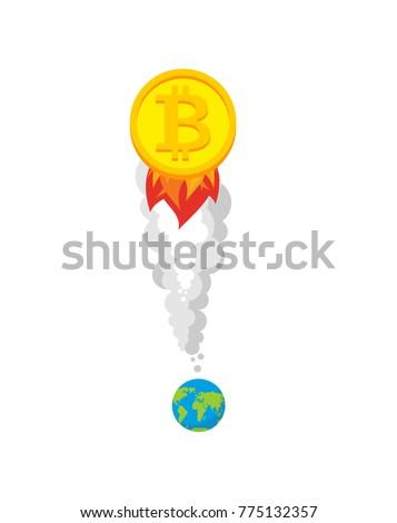 bitcoin · troca · projeto · estilo · teia · bandeira - foto stock © popaukropa