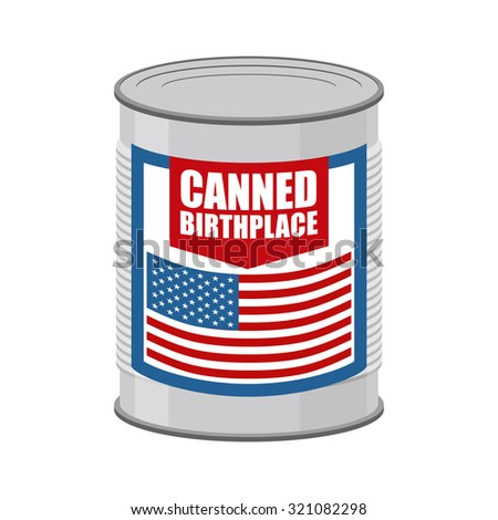 Canned birthplace. Patriotic Preserved birthplace. Part of mothe Stock photo © popaukropa