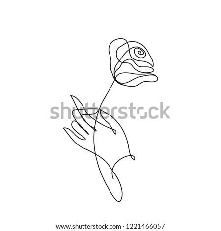 закрывается стилизованный цветок символ стороны Сток-фото © ESSL