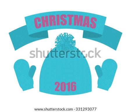 Stockfoto: Christmas · 2016 · ingesteld · winter · kleding · gebreid