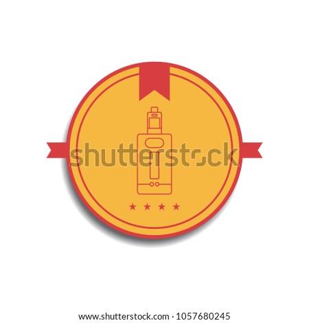 レトロな · 色 · バッジ · 電気 · たばこ · ベクトル - ストックフォト © vector1st