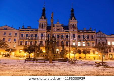 stadhuis · hoofd- · vierkante · regio · Tsjechische · Republiek · gebouw - stockfoto © benkrut