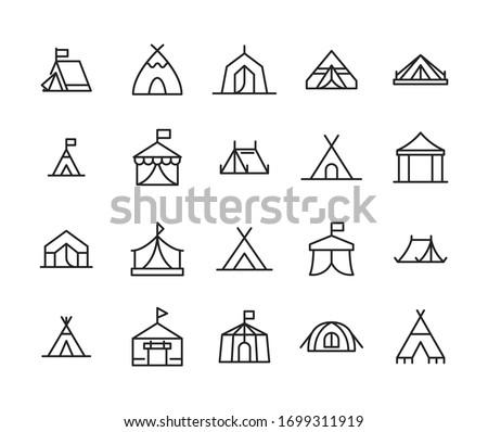 Tienda aislado campamento cabina blanco vector Foto stock © popaukropa
