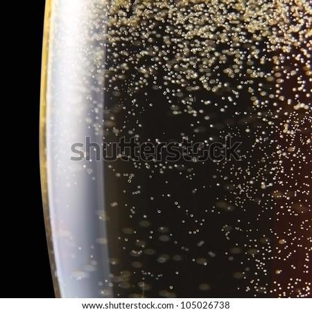elegante · glas · Geel · champagne · bubbels · zwarte - stockfoto © denismart