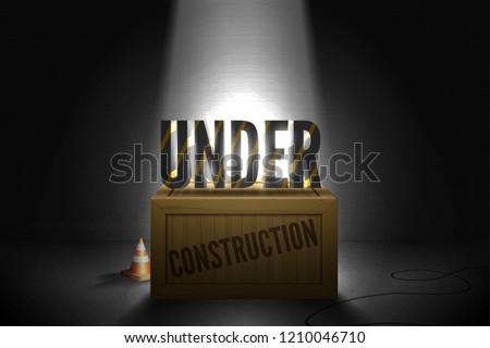 404 errore di pagina giallo nero Foto d'archivio © kyryloff