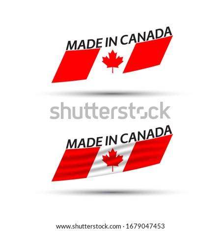 современных вектора Канада Label изолированный белый Сток-фото © kurkalukas