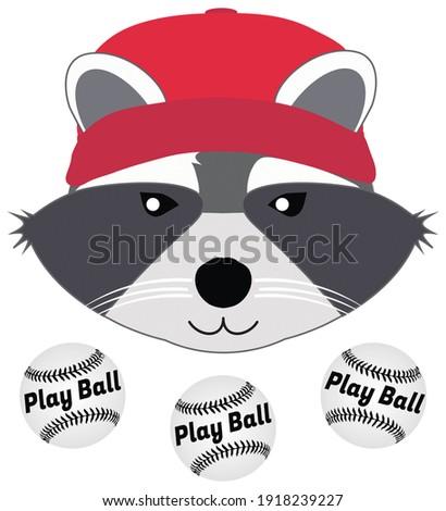 Sorridente softball mascote halteres Foto stock © hittoon