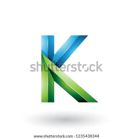 Blue Bold and Curvy Geometrical Letters A and K Vector Illustrat Stock photo © cidepix