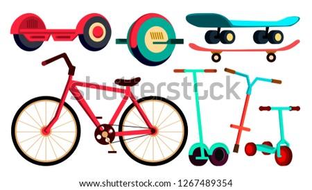 Szett bicikli gördeszka moped vektor szállítás Stock fotó © pikepicture