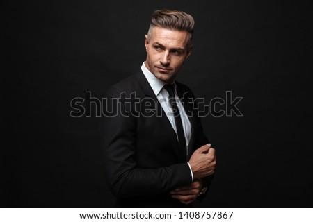 портрет европейский бизнесмен формальный костюм Постоянный Сток-фото © deandrobot