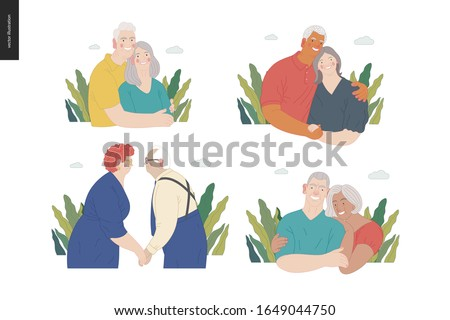 Indian Old Woman Vector. Senior Person. Aged, Elderly People. Positive. Face Emotions, Various Gestu Stock photo © pikepicture