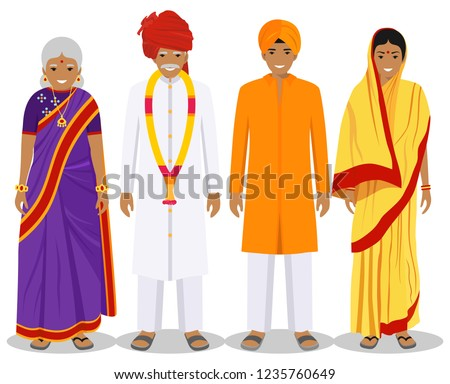 indian · oude · man · vector · senior · persoon · portret - stockfoto © pikepicture