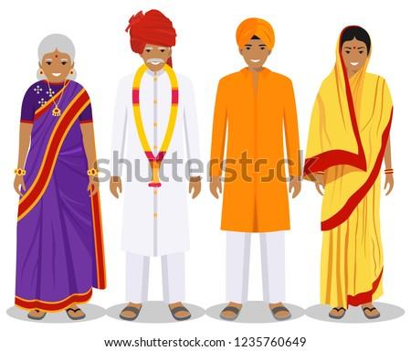 индийской поколение мужчины набор люди человек Сток-фото © pikepicture