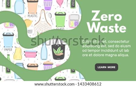 Web modello pari a zero rifiuti oggetti Foto d'archivio © user_10144511
