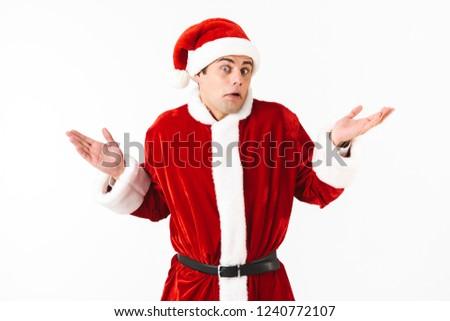 肖像 困惑して 男 30歳代 サンタクロース 衣装 ストックフォト © deandrobot
