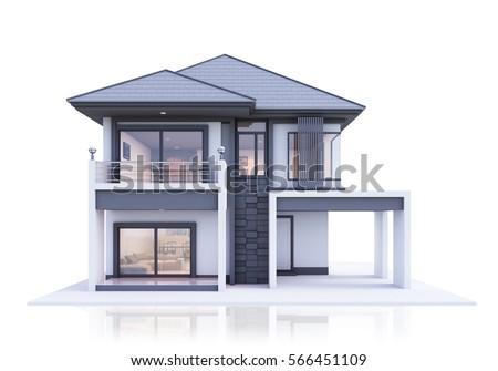 house on white background. Isolated 3D illustration Stock photo © ISerg