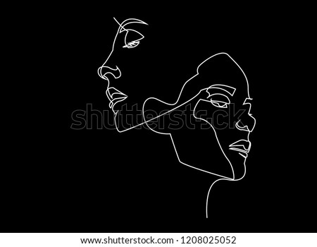 Woman and Man with Icons Drawn Sketches Set Vector Stock photo © robuart