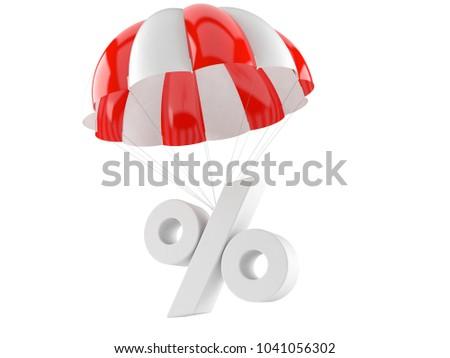 Pour cent parachute blanche isolé 3D 3d illustration Photo stock © ISerg