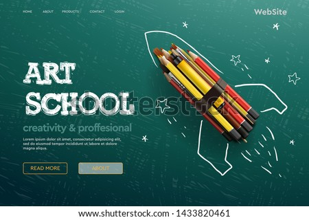 Stock photo: Back to school vector concept web design page templates. Vector illustration for banners invitation