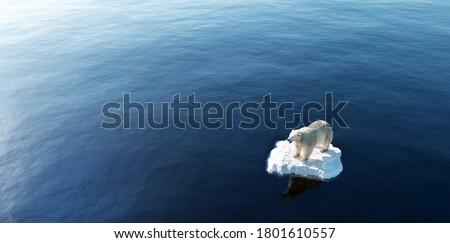 Globalne ocieplenie zmiany klimatyczne lodowiec antena obraz Zdjęcia stock © Maridav