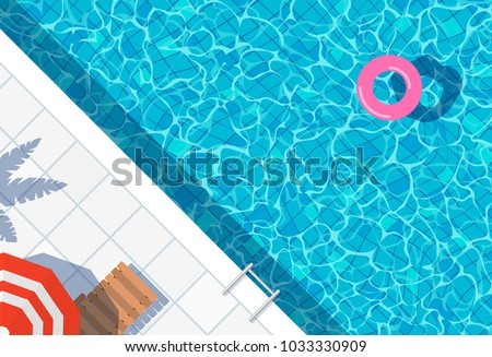 Summer Illustration with Float on Water in the Tiled Pool Background. Vector Summer Holiday Design T Stock photo © articular