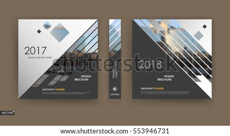 abstract · business · vierkante · brochure · ontwerp · moderne - stockfoto © designleo