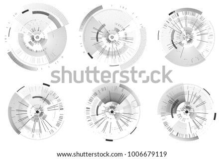 Foto stock: Futurista · modelo · abstrato · círculos · isolado