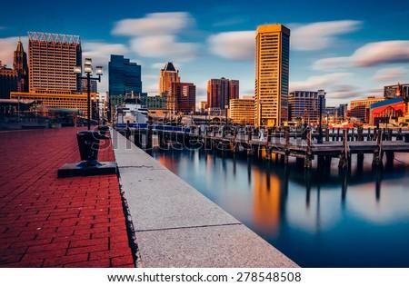 Cityscape Maryland ville panorama Skyline centre-ville Photo stock © Winner