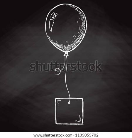 Kroki balon kart halat yer metin Stok fotoğraf © Arkadivna