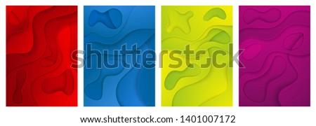 Resumen color 3D papel arte ilustración Foto stock © MarySan