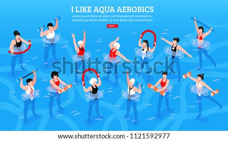 People in aqua fitness class during a physical therapy session Stock photo © Kzenon