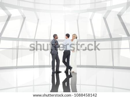 グループ ビジネスの方々  トランジション 傘 デジタル複合 ビジネス ストックフォト © wavebreak_media