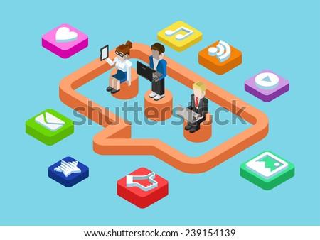 feliz · criador · trabalhadores · laptops · escritório · pessoas · de · negócios - foto stock © wavebreak_media