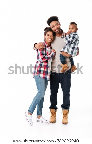 Happy mother and son over white background Stock photo © Lopolo