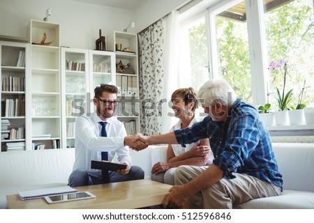 Reifen Paar Immobilienmakler finanziellen Punkte Stock foto © pressmaster