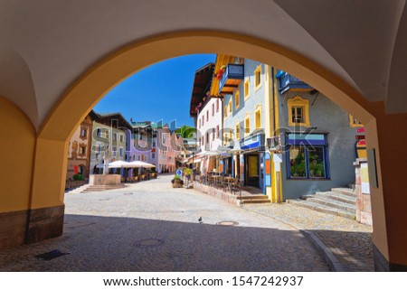 Town of Berchtesgaden colorful street and historic architecture  Stock photo © xbrchx