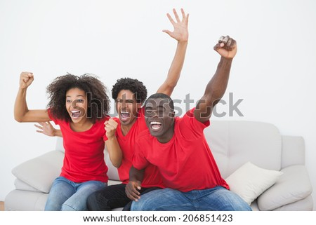 Front view of young African-American male and pretty Caucasian female executives laughing while inte Stock photo © wavebreak_media