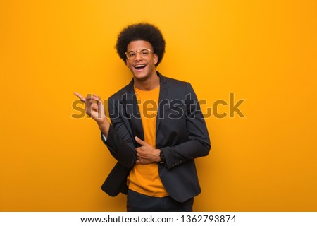 вид сбоку молодые мужчины исполнительного что-то Сток-фото © wavebreak_media