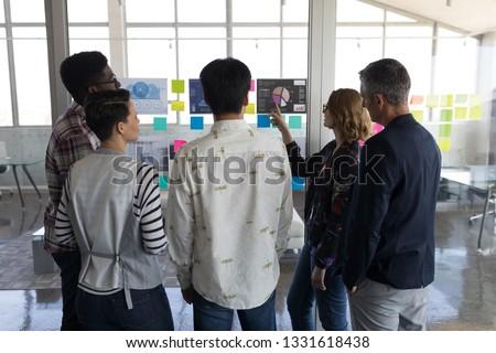 вид сзади Постоянный коллеги другой современных Сток-фото © wavebreak_media