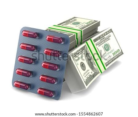 набор капсулы деньги белый изолированный 3D Сток-фото © ISerg