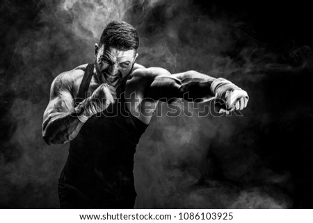 Macht sterkte sport knap agressief sterke Stockfoto © benzoix