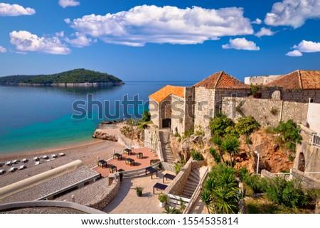 Dubrovnik ver praia ilha turista destino Foto stock © xbrchx