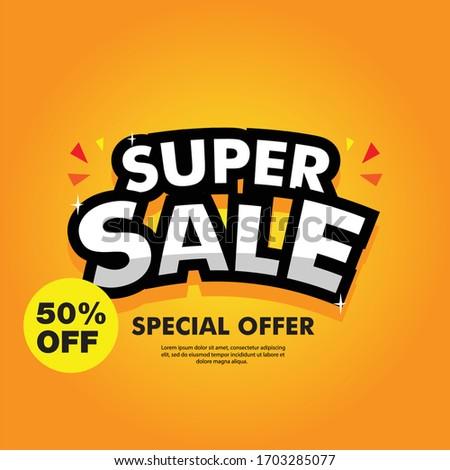 Specjalny weekend sprzedaży reklamy internetowych Zdjęcia stock © MarySan