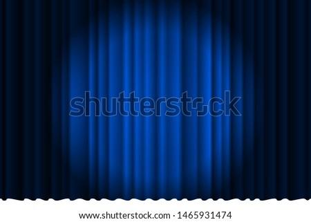 Kék színpadi függöny terv izolált fehér Stock fotó © konturvid