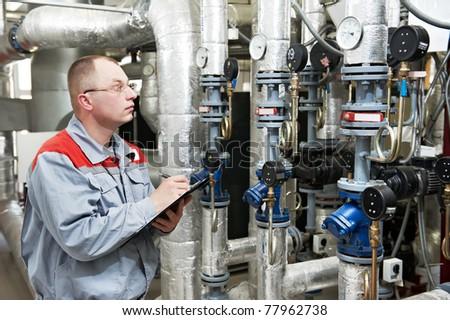 Utrzymanie inżynier techniczne danych ogrzewania wyposażenie Zdjęcia stock © Lopolo
